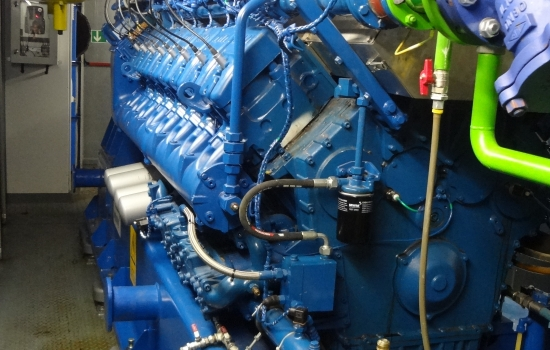 Blue Combined Heat and Power engine
