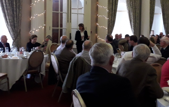 Minette Batters presenting at an AGM