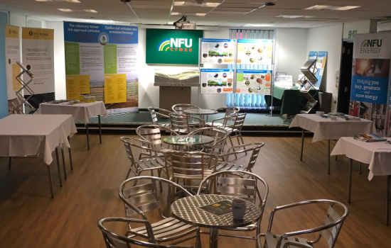 The NFU stand at the Royal Welsh Show