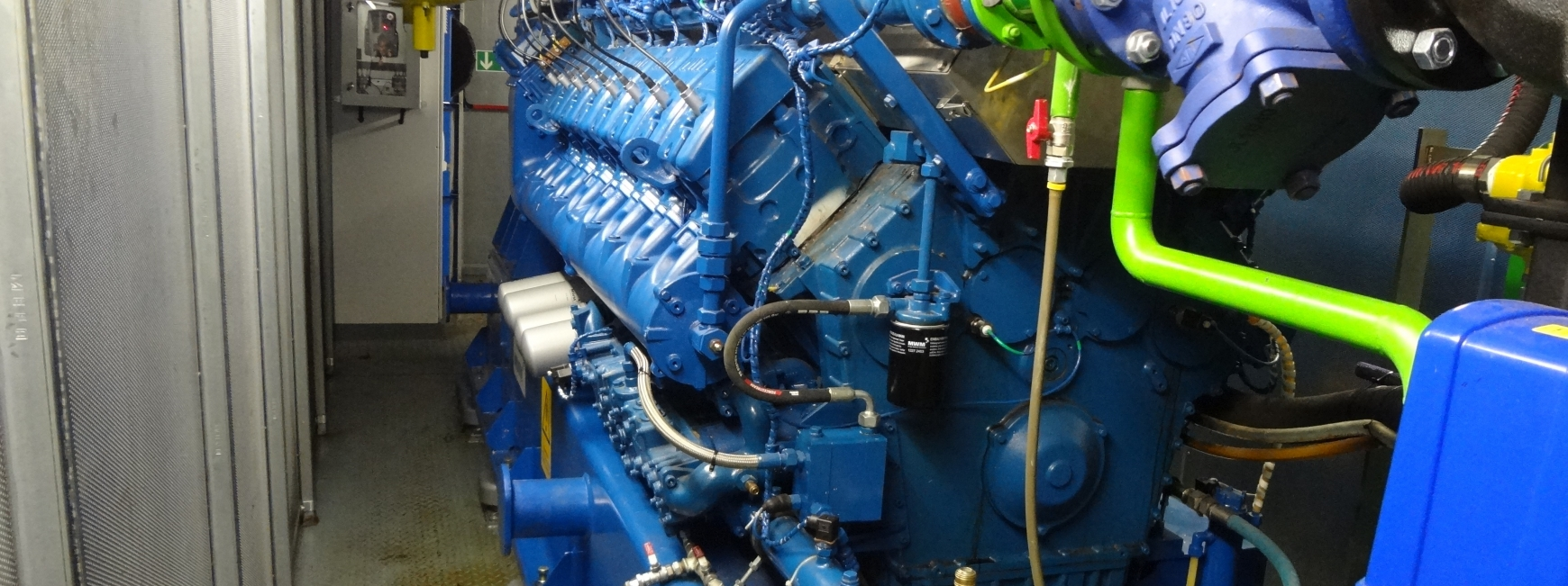 CHP Engine in a shed
