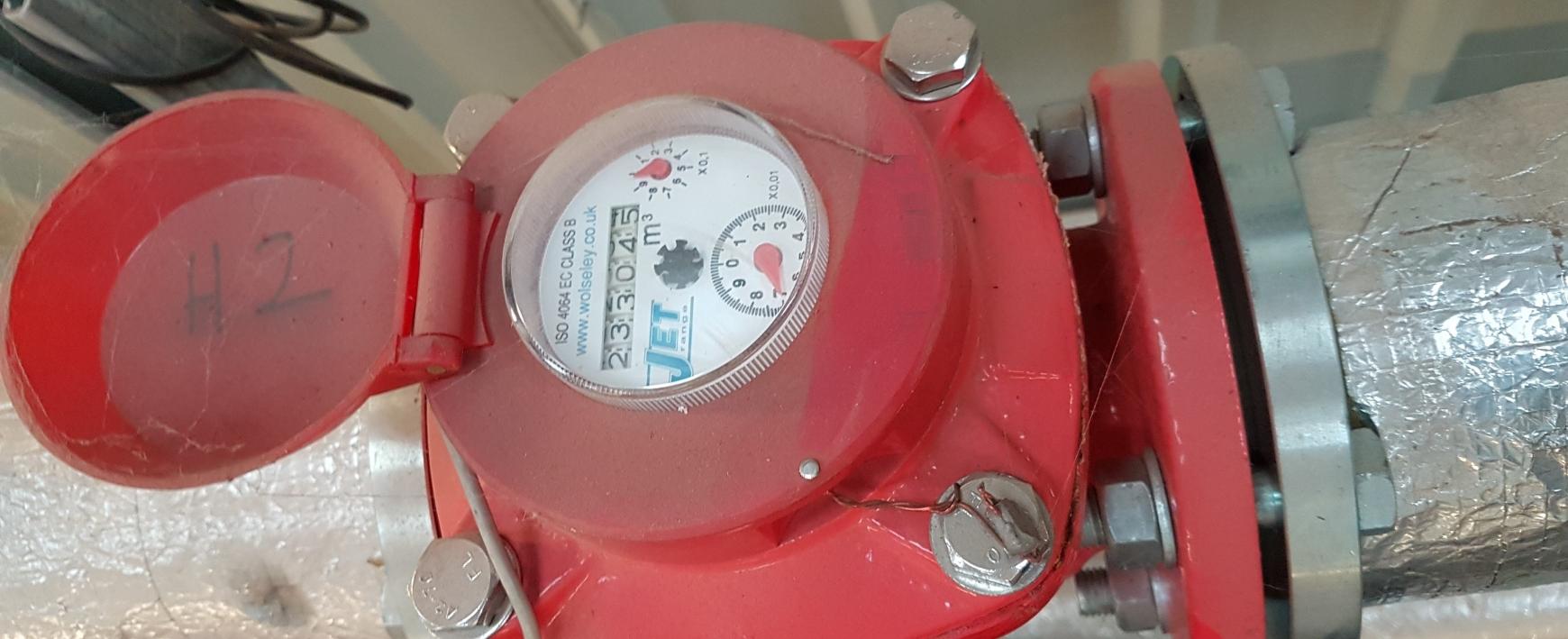 Red heat meter