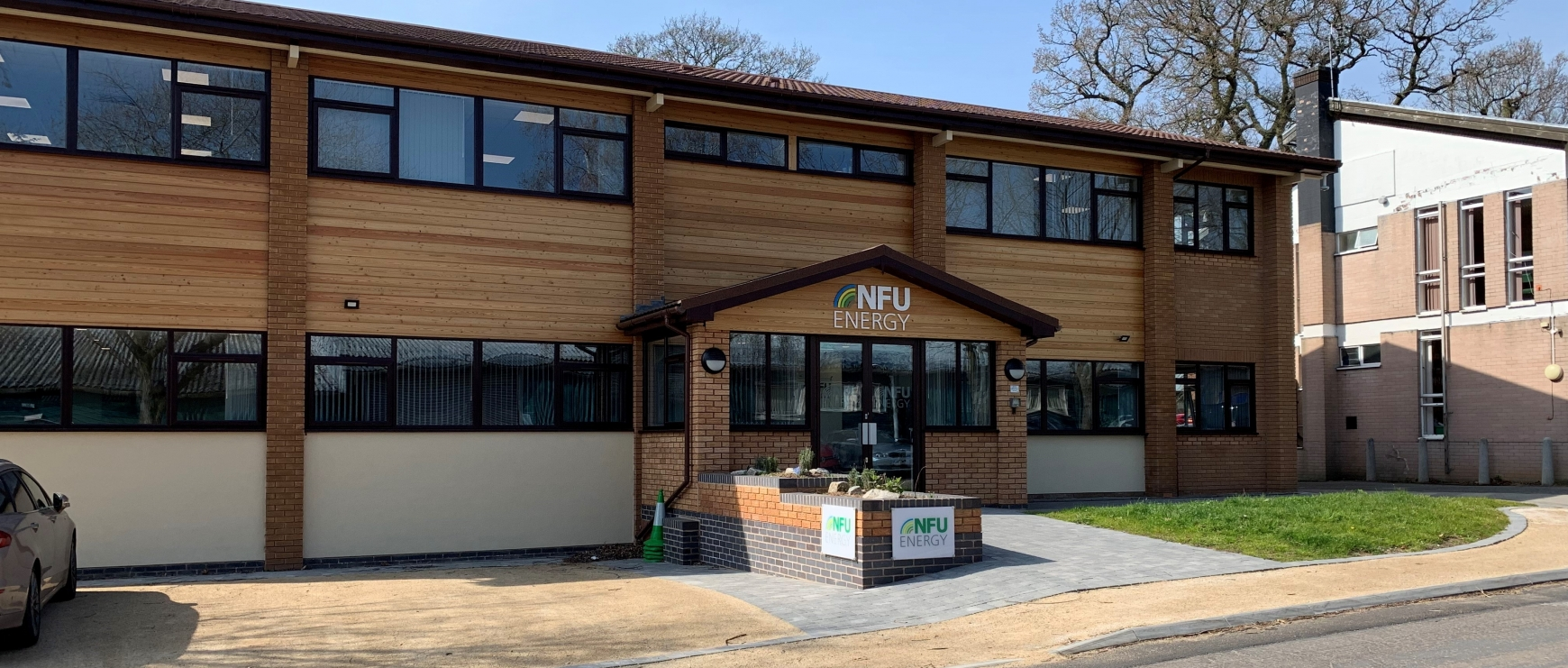 The front of the NFU Energy Office