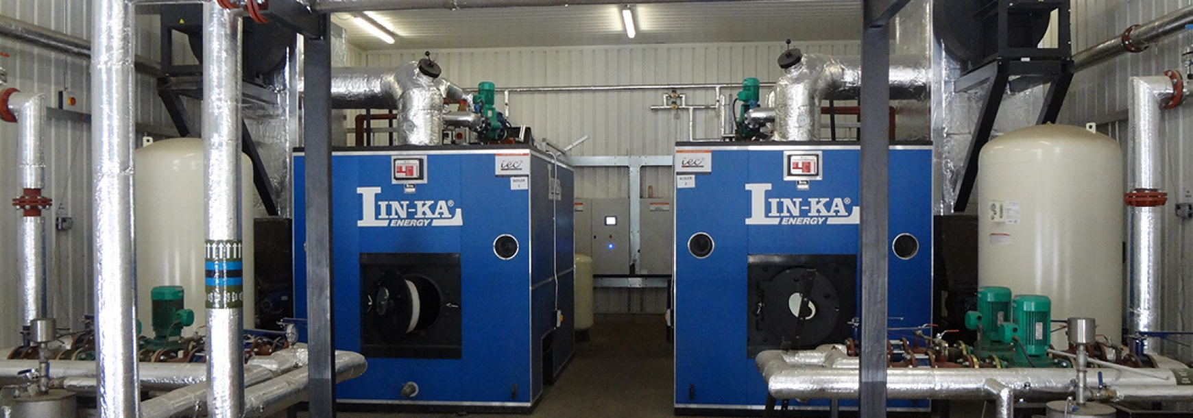 Energy plant installed by NFU Energy project managers
