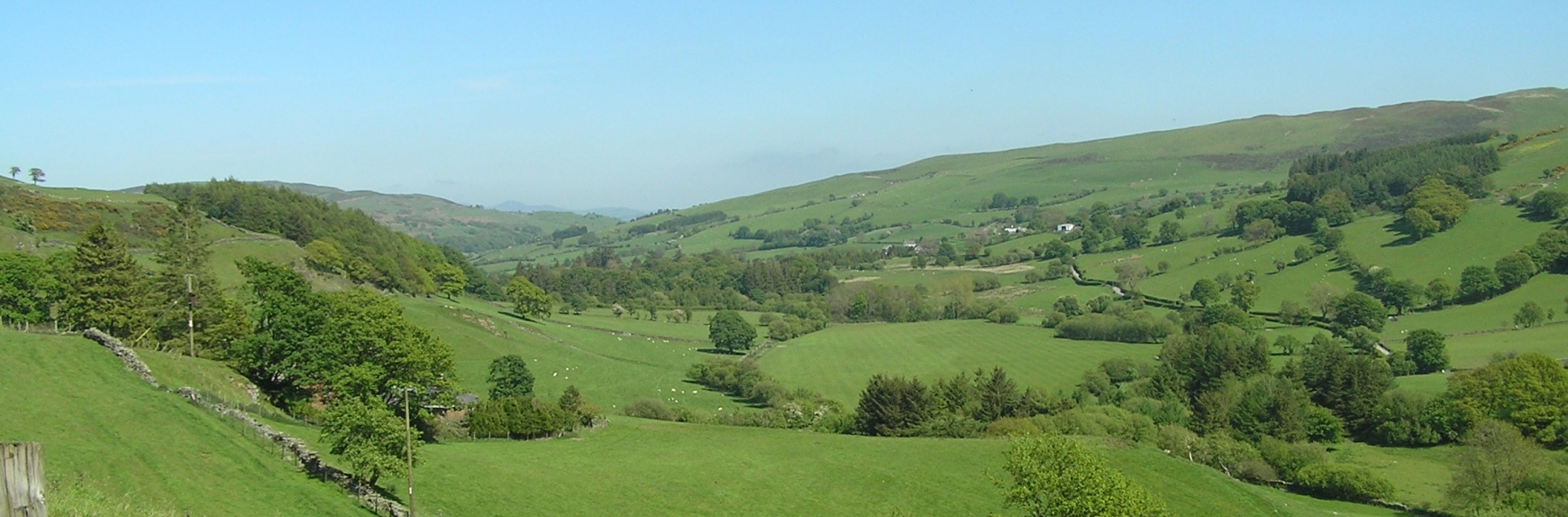Countryside hills with fields