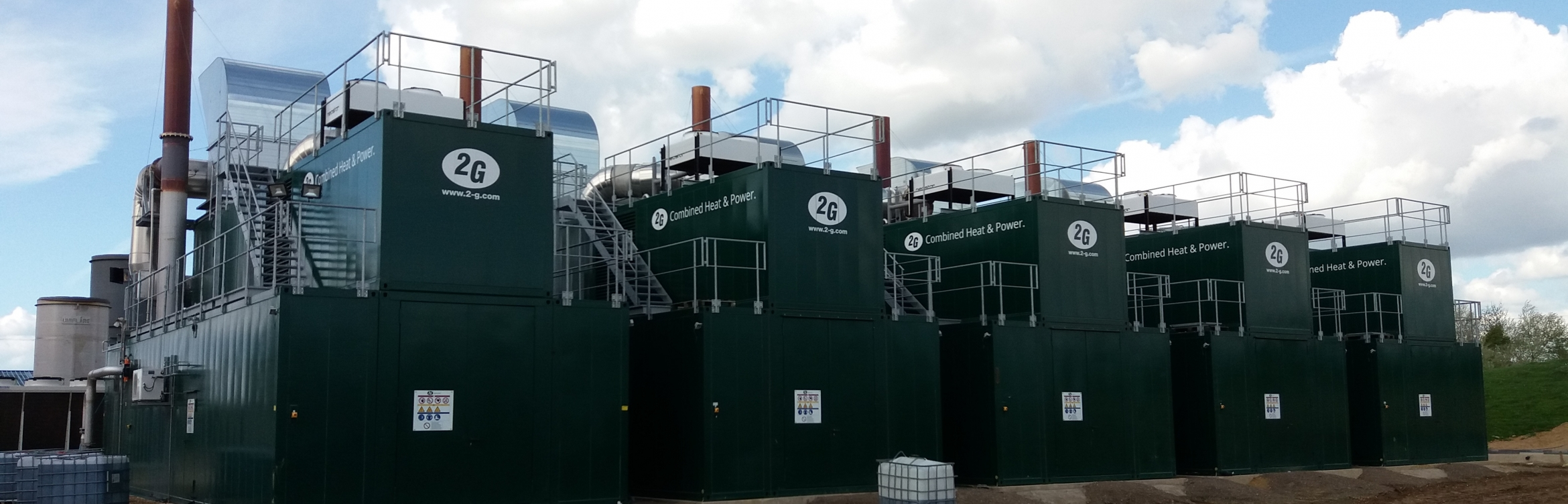 Combined heat and power energy generation equipment at an NFU Energy client site