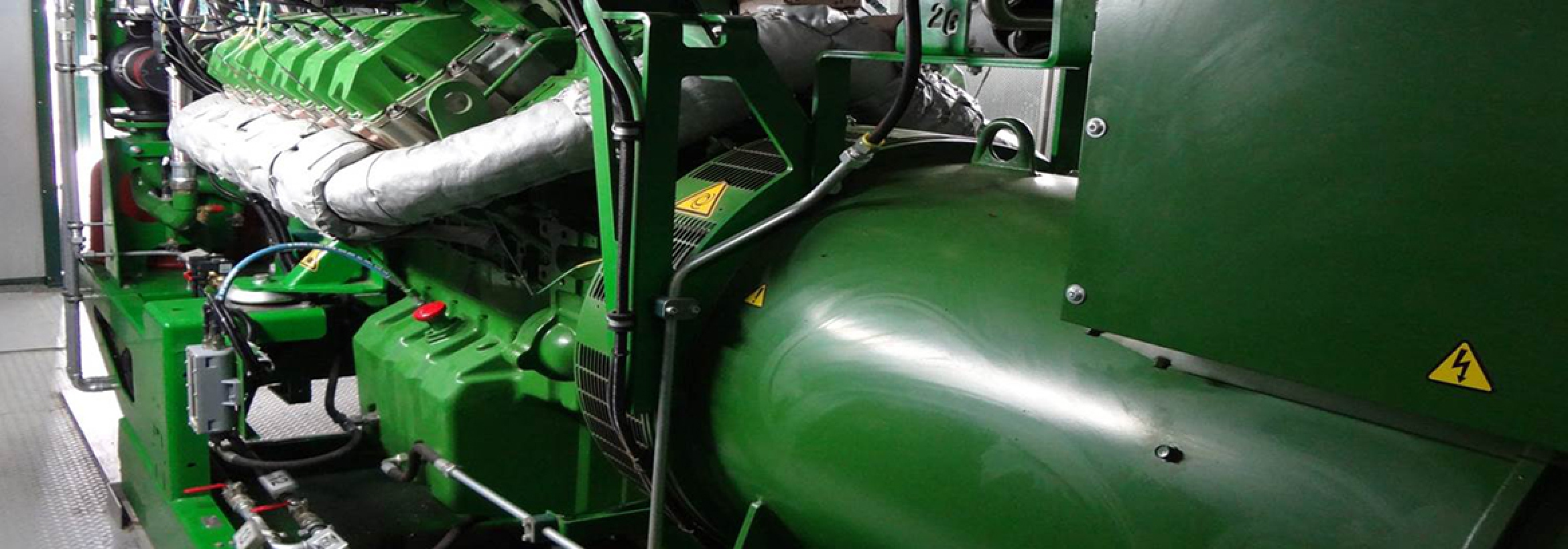 Combined heat and power machinery illustrating how the NFU Energy team support clients with the Combined Heat and Power Quality Assurance Programme