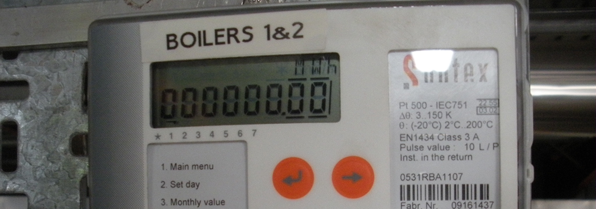Metering equipment for energy consumption to illustrate the NFU Energy compliance service for Heat Network (Metering and Billing) Regulations 2014