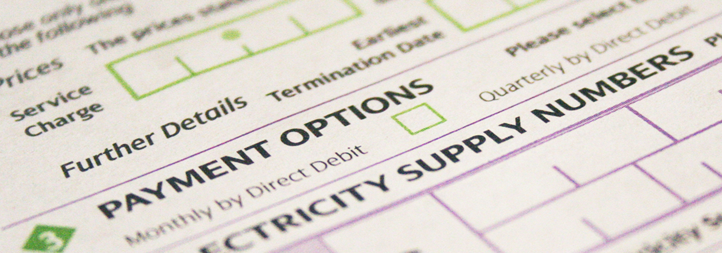 Example of a quotation form used by NFU Energy to get the best deals and most accurate prices on your energy bill