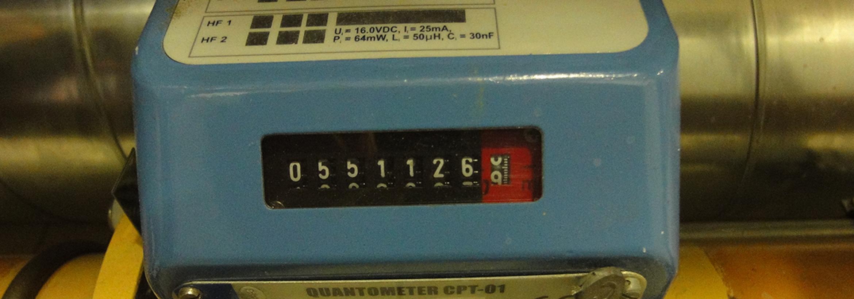 Energy meter representing NFU Energy's sub metering and billing service